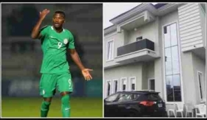 Super Eagles Star Olarenwaju Shows Off His New Mansion (Photo)